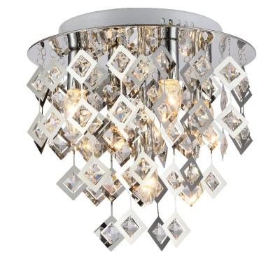 Светильник Favourite 1643-5UПотолочные<br><br><br>Установка на натяжной потолок: Ограничено<br>S освещ. до, м2: 10<br>Крепление: планка<br>Тип товара: Потолочный светильник<br>Тип лампы: Накаливания / энергосбережения / светодиодная<br>Тип цоколя: E14<br>Количество ламп: 5<br>MAX мощность ламп, Вт: 40<br>Размеры: D350*H340<br>Цвет арматуры: серебристый