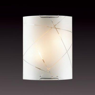 Светильник бра Сонекс 1644 хром/белый VASTOНакладные<br><br><br>S освещ. до, м2: 8<br>Тип лампы: накаливания / энергосбережения / LED-светодиодная<br>Тип цоколя: E14<br>Количество ламп: 2<br>Ширина, мм: 215<br>MAX мощность ламп, Вт: 60<br>Высота, мм: 275<br>Цвет арматуры: серебристый