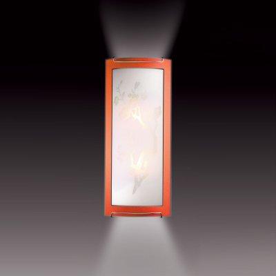 Светильник Сонекс 1648 оранжевый/хром SakuraНакладные<br><br><br>S освещ. до, м2: 8<br>Тип лампы: накаливания / энергосбережения / LED-светодиодная<br>Тип цоколя: E27<br>Количество ламп: 2<br>Ширина, мм: 156<br>MAX мощность ламп, Вт: 60<br>Высота, мм: 365<br>Цвет арматуры: серебристый