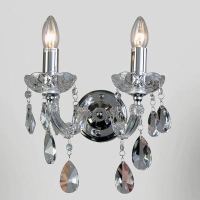 Светильник Favourite 1649-2WХрустальные<br><br><br>Тип лампы: Накаливания / энергосбережения / светодиодная<br>Тип цоколя: E14<br>Количество ламп: 2<br>MAX мощность ламп, Вт: 40<br>Размеры: W270*H210*D190<br>Цвет арматуры: серебристый