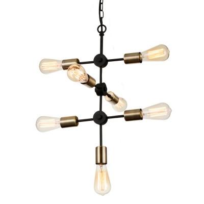 Светильник Favourite 1656-7PПодвесные<br><br><br>Установка на натяжной потолок: Ограничено<br>S освещ. до, м2: 21<br>Крепление: Планка<br>Тип товара: Люстра<br>Скидка, %: 44<br>Тип лампы: Накаливания / энергосбережения / светодиодная<br>Тип цоколя: E27<br>Количество ламп: 7<br>MAX мощность ламп, Вт: 60<br>Размеры: D300*H550/1550<br>Цвет арматуры: черный