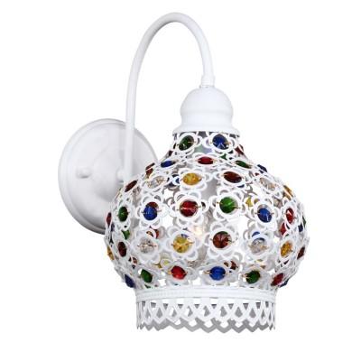 Светильник Favourite 1665-1WМодерн<br><br><br>Тип лампы: Накаливания / энергосбережения / светодиодная<br>Тип цоколя: E27<br>Количество ламп: 1<br>MAX мощность ламп, Вт: 40<br>Размеры: W200*H320*D300<br>Цвет арматуры: белый