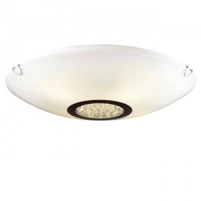 Светильник Favourite 1694-3CКруглые<br><br><br>S освещ. до, м2: 9<br>Крепление: планка<br>Тип товара: Потолочный светильник<br>Тип лампы: Накаливания / энергосбережения / светодиодная<br>Тип цоколя: E27<br>Количество ламп: 3<br>MAX мощность ламп, Вт: 60<br>Размеры: D420*H110<br>Цвет арматуры: серебристый