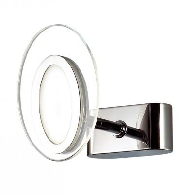 Светильник Favourite 1699-1WХай-тек<br><br><br>Тип товара: Светильник настенный бра<br>Цветовая t, К: CW - холодный белый 4000 К<br>Тип лампы: LED<br>Тип цоколя: LED<br>Количество ламп: 1<br>MAX мощность ламп, Вт: 3<br>Размеры: W100*H140*D120<br>Цвет арматуры: серебристый