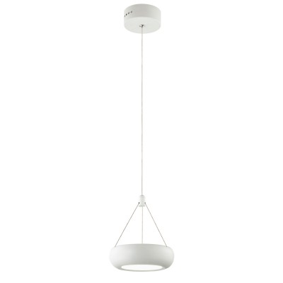 Светильник Favourite 1701-1PОдиночные<br><br><br>Крепление: планка<br>Тип товара: Люстра<br>Цветовая t, К: CW - холодный белый 4000 К<br>Тип лампы: LED<br>Тип цоколя: LED<br>Количество ламп: 1<br>MAX мощность ламп, Вт: 6<br>Размеры: D160*H1170<br>Цвет арматуры: белый