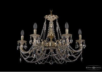 Люстра хрустальная Bohemia Ivele 1702/6/265/C/GIПодвесные<br><br><br>S освещ. до, м2: 18<br>Тип товара: Люстра хрустальная<br>Тип лампы: накаливания / энергосбережения / LED-светодиодная<br>Тип цоколя: E14<br>Количество ламп: 6<br>MAX мощность ламп, Вт: 60<br>Размеры: Диаметр - 70см<br>Цвет арматуры: Слоновая кость
