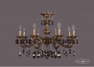 Люстра Bohemia Ivele 1702/8/265/A/FP/K731Подвесные<br><br><br>S освещ. до, м2: 24<br>Тип товара: Люстра<br>Тип лампы: накаливания / энергосбережения / LED-светодиодная<br>Тип цоколя: E14<br>Количество ламп: 8<br>MAX мощность ламп, Вт: 60<br>Диаметр, мм мм: 700<br>Высота, мм: 480<br>Цвет арматуры: Французская патина