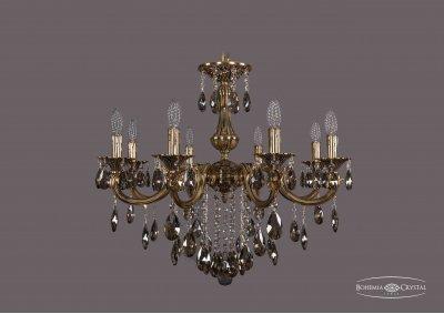 Люстра Bohemia Ivele 1702/8/265/B/GB/K731Подвесные<br><br><br>S освещ. до, м2: 24<br>Тип товара: Люстра<br>Тип лампы: накаливания / энергосбережения / LED-светодиодная<br>Тип цоколя: E14<br>Количество ламп: 8<br>MAX мощность ламп, Вт: 60<br>Диаметр, мм мм: 700<br>Высота, мм: 480<br>Цвет арматуры: Золото черненное