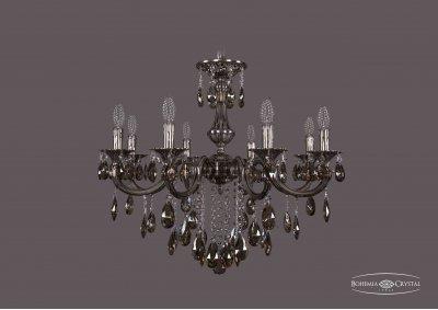 Люстра Bohemia Ivele 1702/8/265/B/NB/K731Подвесные<br><br><br>S освещ. до, м2: 24<br>Тип товара: Люстра<br>Тип лампы: накаливания / энергосбережения / LED-светодиодная<br>Тип цоколя: E14<br>Количество ламп: 8<br>MAX мощность ламп, Вт: 60<br>Диаметр, мм мм: 700<br>Высота, мм: 480<br>Цвет арматуры: Никель черненный