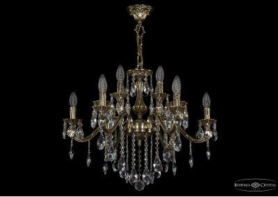 Люстра хрустальная Bohemia Ivele 1703/12/225/B/GBПодвесные<br><br><br>S освещ. до, м2: 36<br>Тип товара: Люстра хрустальная<br>Тип лампы: накаливания / энергосбережения / LED-светодиодная<br>Тип цоколя: E14<br>Количество ламп: 12<br>MAX мощность ламп, Вт: 60<br>Размеры: Диаметр - 65см<br>Цвет арматуры: Золото черненное