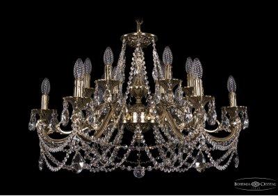 Люстра хрустальная Bohemia Ivele 1703/12/320/C/GBПодвесные<br><br><br>S освещ. до, м2: 36<br>Тип товара: Люстра хрустальная<br>Тип лампы: накаливания / энергосбережения / LED-светодиодная<br>Тип цоколя: E14<br>Количество ламп: 12<br>MAX мощность ламп, Вт: 60<br>Размеры: Диаметр - 84см<br>Цвет арматуры: Золото черненное