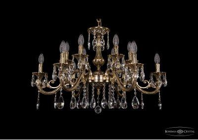 Люстра хрустальная Bohemia Ivele 1703/12/320/A/GBПодвесные<br><br><br>S освещ. до, м2: 36<br>Тип товара: Люстра хрустальная<br>Тип лампы: накаливания / энергосбережения / LED-светодиодная<br>Тип цоколя: E14<br>Количество ламп: 12<br>MAX мощность ламп, Вт: 60<br>Размеры: Диаметр - 83см<br>Цвет арматуры: Золото черненное