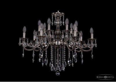 Люстра хрустальная Bohemia Ivele 1703/14/320/B/NBПодвесные<br><br><br>S освещ. до, м2: 42<br>Тип товара: Люстра хрустальная<br>Тип лампы: накаливания / энергосбережения / LED-светодиодная<br>Тип цоколя: E14<br>Количество ламп: 14<br>MAX мощность ламп, Вт: 60<br>Размеры: Диаметр - 83см<br>Цвет арматуры: Никель черненный