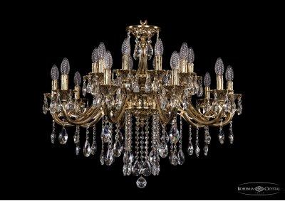 Люстра хрустальная Bohemia Ivele 1703/20/320/B/GBПодвесные<br><br><br>S освещ. до, м2: 60<br>Тип товара: Люстра хрустальная<br>Тип лампы: накаливания / энергосбережения / LED-светодиодная<br>Тип цоколя: E14<br>Количество ламп: 20<br>MAX мощность ламп, Вт: 60<br>Размеры: Диаметр - 83см<br>Цвет арматуры: Золото черненное