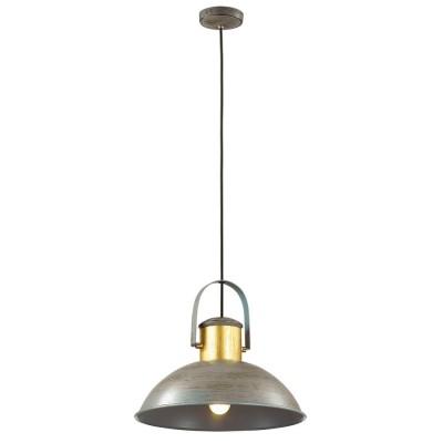 Светильник Favourite 1707-1PОдиночные<br><br><br>Крепление: планка<br>Тип товара: Люстра<br>Тип лампы: Накаливания / энергосбережения / светодиодная<br>Тип цоколя: E27<br>Количество ламп: 1<br>MAX мощность ламп, Вт: 40<br>Размеры: D380*H250/2500<br>Цвет арматуры: серый/золото