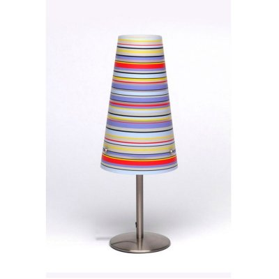 Лампа настольная Brilliant 02747/71 IsiНастольные лампы с абажуром<br>Зачастую мы ищем идеальное освещение для своего дома и уделяем этому достаточно много времени. Так, например, если нам нужен светильник с количеством ламп - 1 и цвет плафонов должен быть - разноцветный полосатый, а материал плафонов только полимер! То нам, как вариант, подойдет модель - лампа настольная Brilliant 02747/71.<br><br>S освещ. до, м2: 2<br>Тип лампы: накал-я - энергосбер-я<br>Тип цоколя: E14<br>Цвет арматуры: серебристый<br>Количество ламп: 1<br>Диаметр, мм мм: 140<br>Высота, мм: 380<br>MAX мощность ламп, Вт: 40