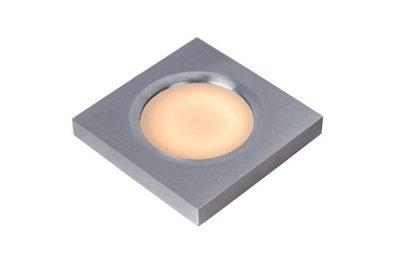 светильники для ванной Lucide 17107/01/12 HAHNEДля ванной<br><br><br>S освещ. до, м2: 3<br>Тип лампы: галогенная / LED-светодиодная<br>Тип цоколя: GU5.3 (MR16)<br>Цвет арматуры: серебристый шлифованный<br>Количество ламп: 1<br>Ширина, мм: 85<br>Длина, мм: 85<br>MAX мощность ламп, Вт: 50
