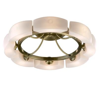 Люстра Odeon Light 1713/8C бронза BarcaПотолочные<br>Элегантная итальянская люстра ODEON LIGHT выполнена в форме обруча и подходит практически под любую мебель и дизайн. Небольшие размеры изделия позволяют ему великолепно смотреться на низких потолках, создавая ощущение легкости, «воздушности» и зрительно увеличивая пространство. Изящный белый плафон подчеркивается бронзовой арматурой, создавая мягкое освещение, комфортное для глаз.  Плавные линии плафона выполнены  в виде уникального рисунка, напоминающего цветочный венок.<br><br>Установка на натяжной потолок: Ограничено<br>S освещ. до, м2: 21<br>Крепление: Планка<br>Тип лампы: галогенная / LED-светодиодная<br>Тип цоколя: G9<br>Количество ламп: 8<br>MAX мощность ламп, Вт: 40<br>Диаметр, мм мм: 580<br>Высота, мм: 150<br>Цвет арматуры: бронзовый