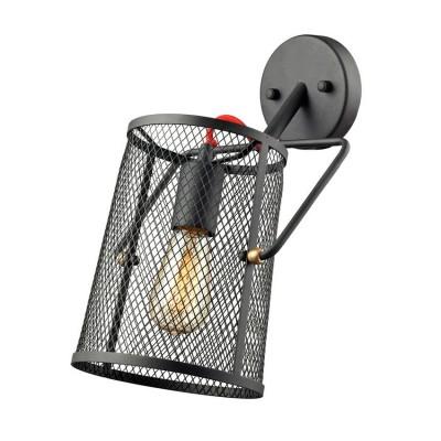 Светильник Favourite 1718-1WМорской стиль<br><br><br>Тип лампы: Накаливания / энергосбережения / светодиодная<br>Тип цоколя: E27<br>Количество ламп: 1<br>MAX мощность ламп, Вт: 60<br>Размеры: W180*D350*H360<br>Цвет арматуры: черный