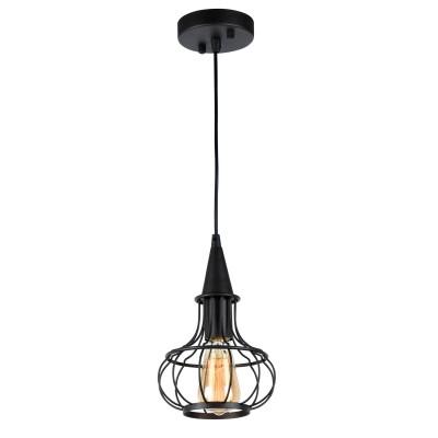 Светильник подвесной Favourite 1719-1P1 EllipseПодвесные<br><br><br>Установка на натяжной потолок: Да<br>S освещ. до, м2: 1<br>Крепление: Планка<br>Тип лампы: Накаливания / энергосбережения / светодиодная<br>Тип цоколя: E14<br>Количество ламп: 1<br>MAX мощность ламп, Вт: 60<br>Диаметр, мм мм: 180<br>Размеры: D180*H310/1310<br>Высота, мм: 310 - 1310<br>Цвет арматуры: черный