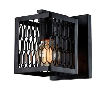 Светильник Favourite 1720-1WМорской стиль<br><br><br>Тип лампы: Накаливания / энергосбережения / светодиодная<br>Тип цоколя: E27<br>Цвет арматуры: черный<br>Количество ламп: 1<br>Размеры: W195*H200*D230<br>MAX мощность ламп, Вт: 60