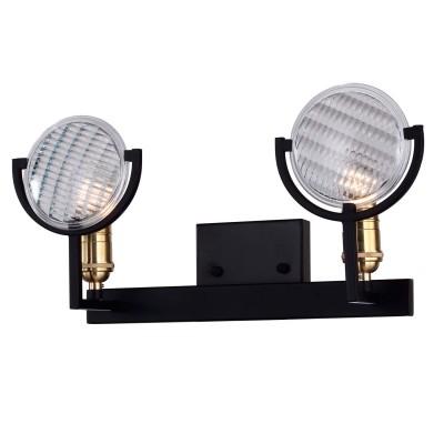 Светильник Favourite 1721-2Wбра в морском стиле<br><br><br>Тип лампы: Накаливания / энергосбережения / светодиодная<br>Тип цоколя: E27<br>Цвет арматуры: Золотой<br>Количество ламп: 2<br>Размеры: W420*H220*D140<br>MAX мощность ламп, Вт: 40
