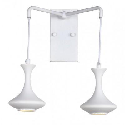 Светильник бра Favourite 1722-2WМодерн<br><br><br>Крепление: планка<br>Тип лампы: галогенная/LED<br>Тип цоколя: MR16<br>Количество ламп: 2<br>MAX мощность ламп, Вт: 5<br>Размеры: W270*H300*H220<br>Цвет арматуры: белый