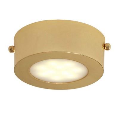 Светильник Favourite 1723-1CКруглые<br>Настенно-потолочные светильники – это универсальные осветительные варианты, которые подходят для вертикального и горизонтального монтажа. В интернет-магазине «Светодом» Вы можете приобрести подобные модели по выгодной стоимости. В нашем каталоге представлены как бюджетные варианты, так и эксклюзивные изделия от производителей, которые уже давно заслужили доверие дизайнеров и простых покупателей.  Настенно-потолочный светильник Favourite 1723-1C станет прекрасным дополнением к основному освещению. Благодаря качественному исполнению и применению современных технологий при производстве эта модель будет радовать Вас своим привлекательным внешним видом долгое время. Приобрести настенно-потолочный светильник Favourite 1723-1C можно, находясь в любой точке России.<br><br>S освещ. до, м2: 2<br>Крепление: планка<br>Тип лампы: LED<br>Тип цоколя: LED<br>Количество ламп: 1<br>MAX мощность ламп, Вт: 5<br>Размеры: D100*H40