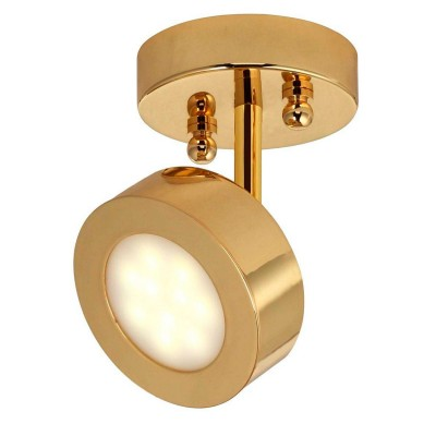 Светильник Favourite 1723-1UОдиночные<br>Светильники-споты – это оригинальные изделия с современным дизайном. Они позволяют не ограничивать свою фантазию при выборе освещения для интерьера. Такие модели обеспечивают достаточно качественный свет. Благодаря компактным размерам Вы можете использовать несколько спотов для одного помещения.  Интернет-магазин «Светодом» предлагает необычный светильник-спот Favourite 1723-1U по привлекательной цене. Эта модель станет отличным дополнением к люстре, выполненной в том же стиле. Перед оформлением заказа изучите характеристики изделия.  Купить светильник-спот Favourite 1723-1U в нашем онлайн-магазине Вы можете либо с помощью формы на сайте, либо по указанным выше телефонам. Обратите внимание, что у нас склады не только в Москве и Екатеринбурге, но и других городах России.<br><br>S освещ. до, м2: 2<br>Крепление: планка<br>Тип лампы: LED<br>Тип цоколя: LED<br>Цвет арматуры: Золотой<br>Количество ламп: 1<br>Размеры: D100*H150<br>MAX мощность ламп, Вт: 5