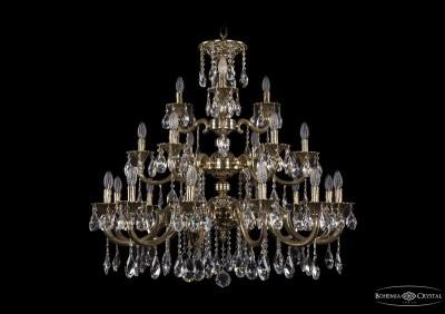 Люстра хрустальная большая Bohemia Ivele 1732/12+6+3/335-85/A/GBПодвесные<br><br><br>S освещ. до, м2: 42<br>Тип товара: Люстра хрустальная большая<br>Тип лампы: накаливания / энергосбережения / LED-светодиодная<br>Тип цоколя: E14<br>Количество ламп: 21<br>MAX мощность ламп, Вт: 40<br>Диаметр, мм мм: 980<br>Высота, мм: 850<br>Цвет арматуры: Золото черненное