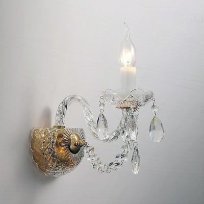 Настенный светильник Favourite 1736-1W SimoneХрустальные<br>Выбирая модель светильника Favourite 1736-1W, обратите внимание, что арматура золотого цвета, хрусталь высшего качества и стеклянные рожки и блюдца прозрачного цвета. Дополнительная информация в характеристиках или по телефону.<br><br>Тип цоколя: E14<br>Количество ламп: 1<br>Ширина, мм: 230<br>Размеры: D130*H300*W230<br>Длина, мм: 130<br>Высота, мм: 300<br>Общая мощность, Вт: 40W