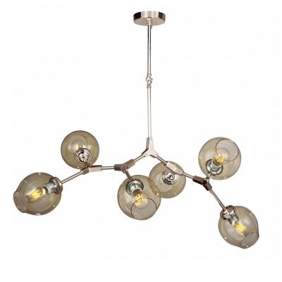 Люстра Favourite 1741-6P BolosПодвесные<br>Выбирая модель светильника Favourite 1741-6P, обратите внимание, что светло-золотой цвета каркаса, прозрачные стеклянные плафоны янтарного оттенка. Дополнительная информация в характеристиках или по телефону.<br><br>Крепление: Планка<br>Тип товара: люстра<br>Тип цоколя: E27<br>Количество ламп: 6<br>Диаметр, мм мм: 1000<br>Размеры: D1000*H1050<br>Высота, мм: 1050<br>Общая мощность, Вт: 40W