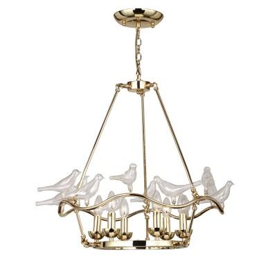 Люстра Favourite 1750-6P PajaritosПодвесные<br>Выбирая модель светильника Favourite 1750-6P, обратите внимание, что арматура золотого цвета, декоративные птички из выдувного стекла. Дополнительная информация в характеристиках или по телефону.<br><br>Установка на натяжной потолок: Да<br>S освещ. до, м2: 12<br>Крепление: Планка<br>Тип лампы: Накаливания / энергосбережения / светодиодная<br>Тип цоколя: E14<br>Количество ламп: 6<br>MAX мощность ламп, Вт: 40<br>Диаметр, мм мм: 680<br>Размеры: D680*H500/1500<br>Высота, мм: 500 - 1500<br>Цвет арматуры: золотой<br>Общая мощность, Вт: 40W