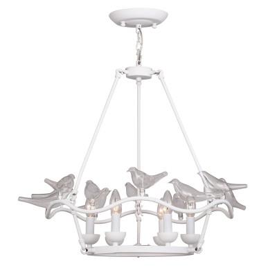 Люстра Favourite 1751-6P PajaritosПодвесные<br>Выбирая модель светильника Favourite 1751-6P, обратите внимание, что арматура белого цвета, декоративные птички из выдувного стекла. Дополнительная информация в характеристиках или по телефону.<br><br>Установка на натяжной потолок: Да<br>S освещ. до, м2: 12<br>Крепление: Планка<br>Тип цоколя: E14<br>Количество ламп: 6<br>MAX мощность ламп, Вт: 40<br>Диаметр, мм мм: 680<br>Размеры: D680*H500/1500<br>Высота, мм: 500 - 1500<br>Цвет арматуры: белый<br>Общая мощность, Вт: 40W
