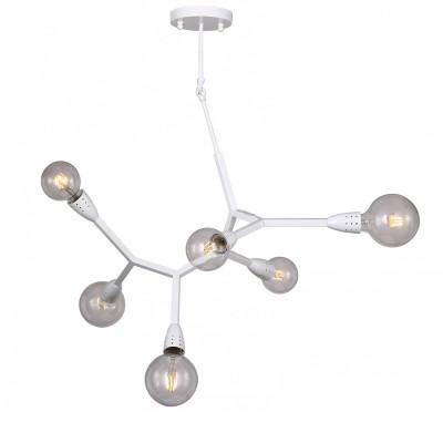 Люстра Favourite 1755-6P ElectronАрхив<br>Выбирая модель светильника Favourite 1755-6P, обратите внимание, что каркас белого цвета, лучше использовать лампы крупного размера шарообразной формы. Дополнительная информация в характеристиках или по телефону.<br><br>S освещ. до, м2: 12<br>Крепление: Планка<br>Тип цоколя: E27<br>Количество ламп: 6<br>Диаметр, мм мм: 900<br>Размеры: D900*H1000<br>Высота, мм: 1000<br>MAX мощность ламп, Вт: 40<br>Общая мощность, Вт: 40W