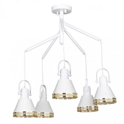 Люстра Favourite 1756-5U HelixПодвесные<br>Выбирая модель светильника Favourite 1756-5U, обратите внимание, что металл белого цвета с золотыми декоративными элементами. Дополнительная информация в характеристиках или по телефону.<br><br>Установка на натяжной потолок: Да<br>S освещ. до, м2: 10<br>Крепление: Планка<br>Тип цоколя: E27<br>Количество ламп: 5<br>MAX мощность ламп, Вт: 40<br>Диаметр, мм мм: 620<br>Размеры: D620*H560<br>Высота, мм: 560<br>Цвет арматуры: белый<br>Общая мощность, Вт: 40W