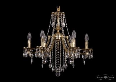 Люстра Bohemia Ivele 1771/6/190/B/GWПодвесные<br><br><br>S освещ. до, м2: 12<br>Тип товара: Люстра<br>Тип лампы: накаливания / энергосбережения / LED-светодиодная<br>Тип цоколя: E14<br>Количество ламп: 6<br>MAX мощность ламп, Вт: 40<br>Диаметр, мм мм: 600<br>Высота, мм: 550<br>Цвет арматуры: Золото беленное
