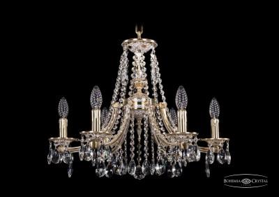 Люстра хрустальная Bohemia Ivele 1771/6/190/A/GWПодвесные<br><br><br>S освещ. до, м2: 18<br>Тип товара: Люстра хрустальная<br>Тип лампы: накаливания / энергосбережения / LED-светодиодная<br>Тип цоколя: E14<br>Количество ламп: 6<br>MAX мощность ламп, Вт: 60<br>Размеры: Диаметр - 60см<br>Цвет арматуры: Золото беленное