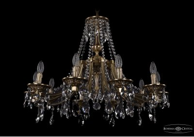 Люстра хрустальная Bohemia Ivele 1771/10/270/A/FPПодвесные<br><br><br>S освещ. до, м2: 30<br>Тип товара: Люстра хрустальная<br>Тип лампы: накаливания / энергосбережения / LED-светодиодная<br>Тип цоколя: E14<br>Количество ламп: 10<br>MAX мощность ламп, Вт: 60<br>Размеры: Диаметр - 80см<br>Цвет арматуры: Французская патина