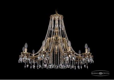 Люстра Bohemia Ivele 1771/10/340/A/GBПодвесные<br><br><br>S освещ. до, м2: 20<br>Тип товара: Люстра<br>Тип лампы: накаливания / энергосбережения / LED-светодиодная<br>Тип цоколя: E14<br>Количество ламп: 10<br>MAX мощность ламп, Вт: 40<br>Диаметр, мм мм: 1000<br>Высота, мм: 740<br>Цвет арматуры: Золото черненное