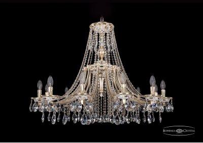 Люстра Bohemia Ivele 1771/12/340/A/GWПодвесные<br><br><br>S освещ. до, м2: 24<br>Тип товара: Люстра<br>Тип лампы: накаливания / энергосбережения / LED-светодиодная<br>Тип цоколя: E14<br>Количество ламп: 12<br>MAX мощность ламп, Вт: 40<br>Диаметр, мм мм: 1000<br>Высота, мм: 740<br>Цвет арматуры: Золото беленное