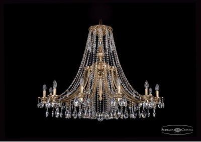 Люстра Bohemia Ivele 1771/12/410/A/FPПодвесные<br><br><br>S освещ. до, м2: 24<br>Тип товара: Люстра<br>Тип лампы: накаливания / энергосбережения / LED-светодиодная<br>Тип цоколя: E14<br>Количество ламп: 12<br>MAX мощность ламп, Вт: 40<br>Диаметр, мм мм: 1200<br>Высота, мм: 940<br>Цвет арматуры: Французская патина