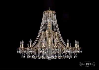 Люстра Bohemia Ivele 1771/16/410/A/GBПодвесные<br><br><br>S освещ. до, м2: 32<br>Тип товара: Люстра<br>Тип лампы: накаливания / энергосбережения / LED-светодиодная<br>Тип цоколя: E14<br>Количество ламп: 16<br>MAX мощность ламп, Вт: 40<br>Диаметр, мм мм: 1200<br>Высота, мм: 1090<br>Цвет арматуры: Золото черненное