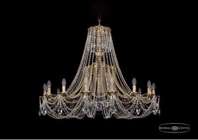 Люстра Bohemia Ivele 1771/16/410/C/GBПодвесные<br><br><br>S освещ. до, м2: 32<br>Тип товара: Люстра<br>Тип лампы: накаливания / энергосбережения / LED-светодиодная<br>Тип цоколя: E14<br>Количество ламп: 16<br>MAX мощность ламп, Вт: 40<br>Диаметр, мм мм: 1200<br>Высота, мм: 1090<br>Цвет арматуры: Золото черненное