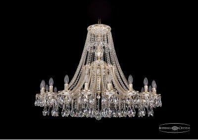 Люстра Bohemia Ivele 1771/20/410/A/GWПодвесные<br><br><br>S освещ. до, м2: 40<br>Тип товара: Люстра<br>Тип лампы: накаливания / энергосбережения / LED-светодиодная<br>Тип цоколя: E14<br>Количество ламп: 20<br>MAX мощность ламп, Вт: 40<br>Диаметр, мм мм: 1200<br>Высота, мм: 940<br>Цвет арматуры: Золото беленное