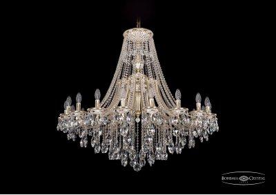 Люстра Bohemia Ivele 1771/20/410/B/GWПодвесные<br><br><br>S освещ. до, м2: 40<br>Тип товара: Люстра<br>Тип лампы: накаливания / энергосбережения / LED-светодиодная<br>Тип цоколя: E14<br>Количество ламп: 20<br>MAX мощность ламп, Вт: 40<br>Диаметр, мм мм: 1200<br>Высота, мм: 940<br>Цвет арматуры: Золото беленное
