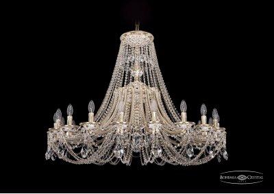 Люстра Bohemia Ivele 1771/20/410/C/GWПодвесные<br><br><br>S освещ. до, м2: 40<br>Тип товара: Люстра<br>Тип лампы: накаливания / энергосбережения / LED-светодиодная<br>Тип цоколя: E14<br>Количество ламп: 20<br>MAX мощность ламп, Вт: 40<br>Диаметр, мм мм: 1200<br>Высота, мм: 940<br>Цвет арматуры: Золото беленное