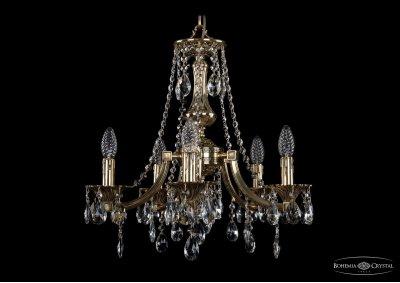 Люстра хрустальная Bohemia Ivele 1771/5/150/A/GBПодвесные<br><br><br>S освещ. до, м2: 15<br>Тип товара: Люстра хрустальная<br>Тип лампы: накаливания / энергосбережения / LED-светодиодная<br>Тип цоколя: E14<br>Количество ламп: 5<br>MAX мощность ламп, Вт: 60<br>Размеры: Диаметр - 50см<br>Цвет арматуры: Золото черненное