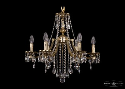 Люстра хрустальная Bohemia Ivele 1771/6/190/B/GBПодвесные<br><br><br>S освещ. до, м2: 18<br>Тип товара: Люстра хрустальная<br>Тип лампы: накаливания / энергосбережения / LED-светодиодная<br>Тип цоколя: E14<br>Количество ламп: 6<br>MAX мощность ламп, Вт: 60<br>Размеры: Диаметр - 60см<br>Цвет арматуры: Золото черненное