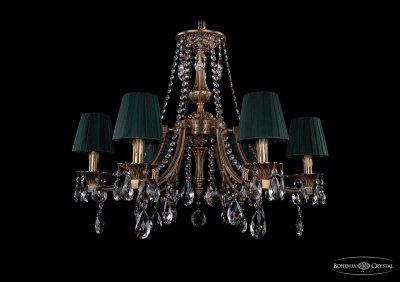 Люстра хрустальная Bohemia Ivele 1771/6/220/A/FP/SH10Подвесные<br><br><br>S освещ. до, м2: 18<br>Тип товара: Люстра хрустальная<br>Тип лампы: накаливания / энергосбережения / LED-светодиодная<br>Тип цоколя: E14<br>Количество ламп: 6<br>MAX мощность ламп, Вт: 60<br>Размеры: Диаметр - 69см<br>Цвет арматуры: Французская патина